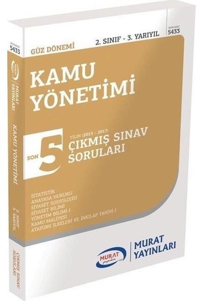 Murat Yayınları Açıköğretim 2. Sınıf Güz Kamu Yönetimi Çıkmış Sorular