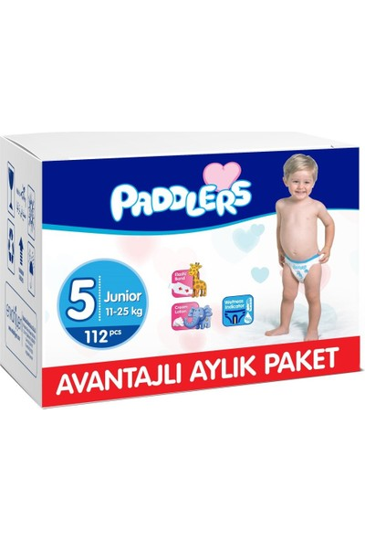 Paddlers 5 Numara Junior 112 Adet (11-25 kg) Aylık Paket