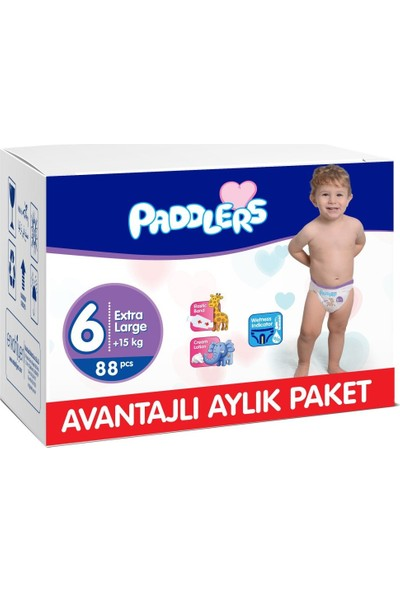 Paddlers 6 Numara X-Large 88 Adet (15+ kg) Aylık Paket