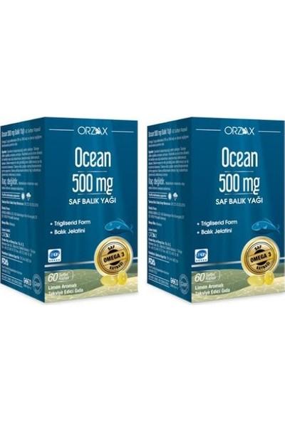 Ocean 500 Mg 60 Kapsül Balık Yağı 2 Adet