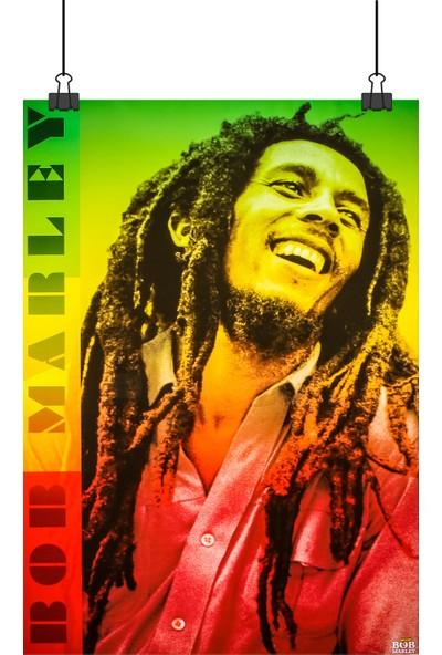 Bob Marley Renkli 70 x 50 cm Posteri