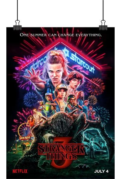 Stranger Things Sezon 3 Yabancı Dizi Afiş 48 x 33 cm Posteri