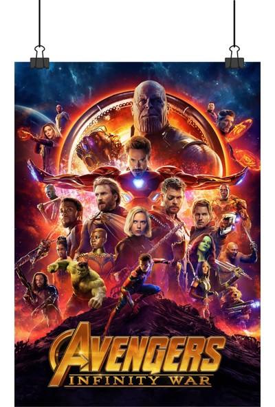 Avengers Infinity War Yenilmezler Sonsuzluk Savaşı Sinema Film Afiş 70 x 50 cm Posteri
