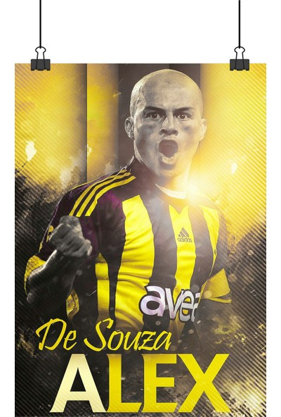 Alex De Souza Fenerbahçe Gol Sevinci 70 x 50 cm Posteri