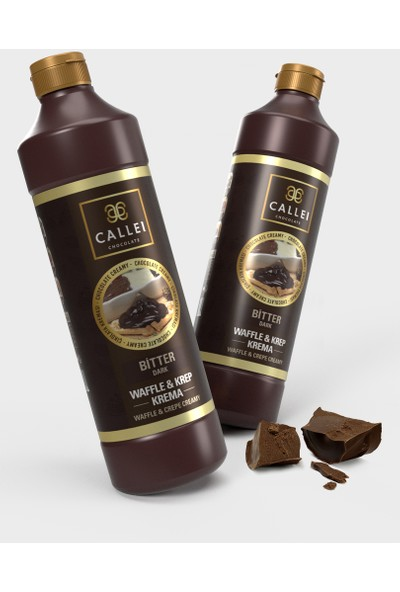 Callei Bitter Şişe Waffle Çikolatası 1 kg