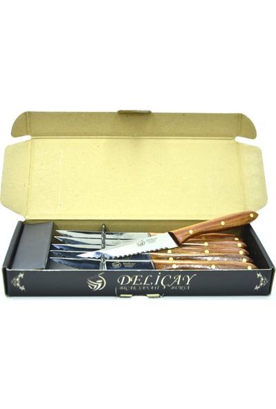 Deliçay Bıçak Mutfak Serisi (6'lı Set) Steak Bıçağı