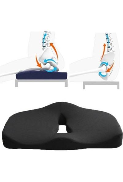 Style Visco Elastik Oturma ve Sırt Minder 2 'li Set Konfor Paketi