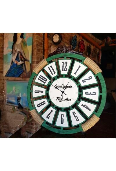 Aynacıoğlu Dekorasyon Dekoratif Ahsap Duvar Saati