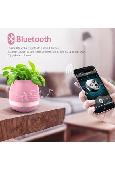Smart Akıllı Saksı Bluetooth Hoparlör - Pembe