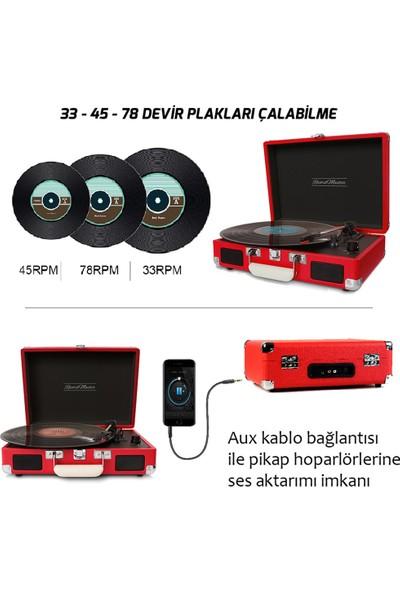 Record Master Retro Pikap T310CH - Şarj Özellikli - Kırmızı