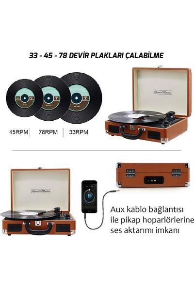 Record Master Retro Pikap T310CH - Şarj Özellikli - Kahverengi