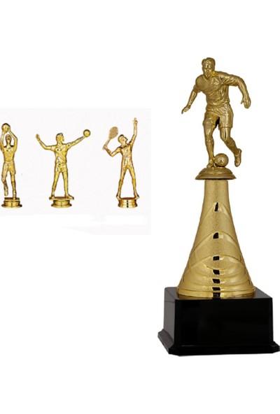 Hazar Spor Branş Figürlü Metal Ödül Kupası 31 cm Basketbol