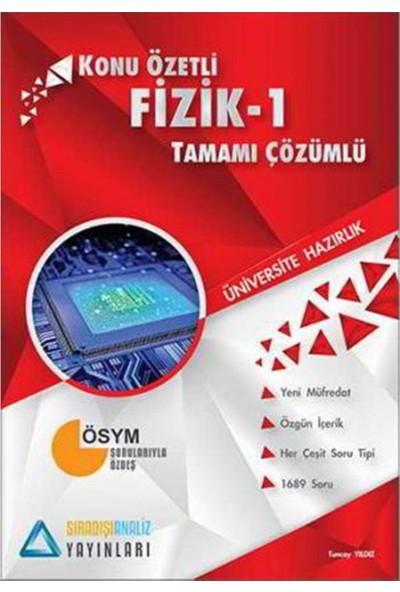 Sıradışı Analiz Yayınları TYT Fizik 1 Soru Bankası