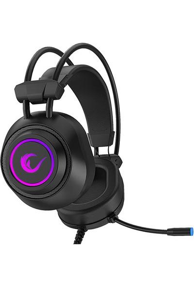 Rampage RM-K19 Raging 7 Renk Ledli 3.5 mm Mikrofonlu Kulak Üstü Oyuncu Kulaklık