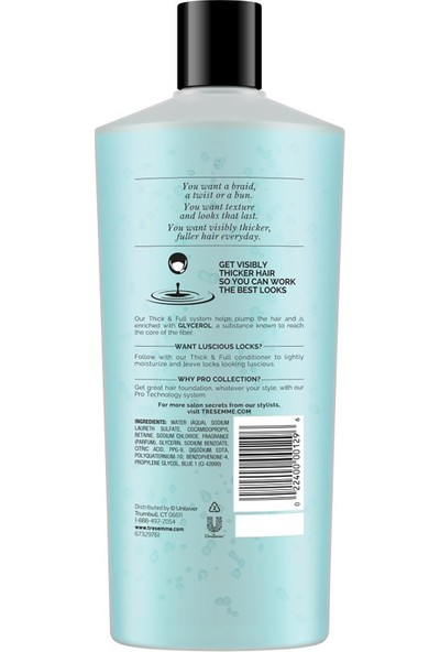 Tresemme Thick & Full Şampuan 650 ml
