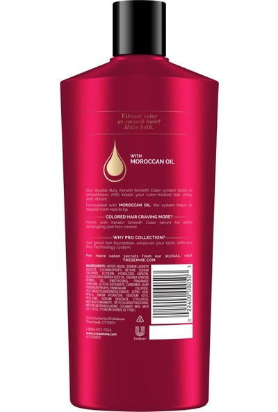 Tresemme Keratin Smooth Color Şampuan 650 ml