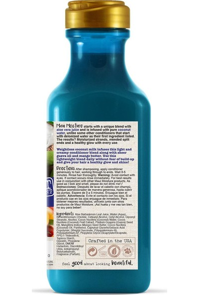 Maui Coconut Milk Şampuan 385 ml