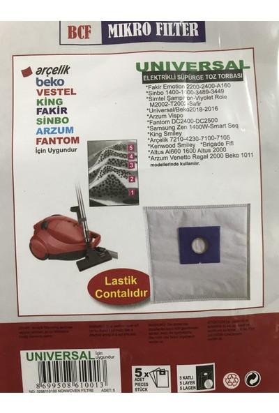 BLC Vestel Ecomax 1805 5 Katlı Sentetik Toz Torbası (15 Adet)