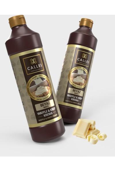 Callei Beyaz Şişe Waffle Çikolatası 1 kg