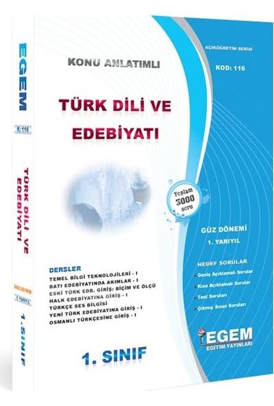 Egem Yayınları AÖF Türk Dili ve Edebiyatı 1. Sınıf 1.Yarıyıl Güz Tüm Dersler Konu Anlatımlı Soru Bankası Güncel