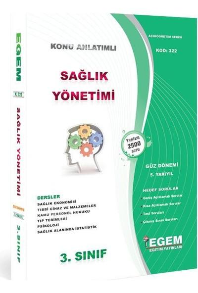 Egem Yayınları Sağlık Yönetimi 3. Sınıf Güz Dönemi 5 Yarıyıl Konu Anlatımlı Soru Yeni Baskı