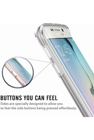 Coverzone Samsung Galaxy J4 Plus Tam Koruma Silikon Kılıf - Şeffaf
