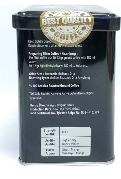 Black Pearl Coffee Premium Blend Öğütülmüş Filtre Kahve 250 gr