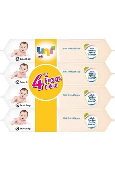Uni Soft Islak Havlu Sensitive 4 x 56 Adet
