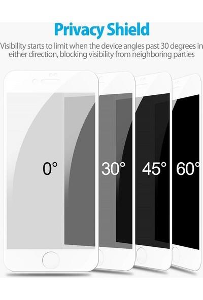 Engo Apple iPhone 8 5D Hayalet Ekran Koruyucu Beyaz