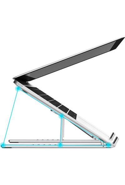 """Lopard Wiwu S400 Macbook Laptop Standı Özel Yükseltici Aparat Metal Tasarım 10"""" - 15.6"""""""