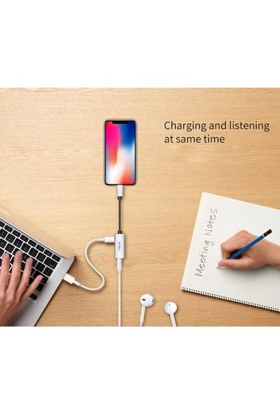 Lopard Wiwu LT01 Apple iPhone Lightning 3.5mm Kulaklık Dönüştürücü Adaptör