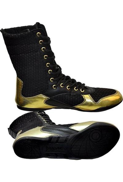 Dragon Boks Ayakkabısı - Siyah/altın Sarısı