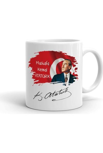 İyi Fikirler Atatürk ve Imza Seramik Kupa Bardak