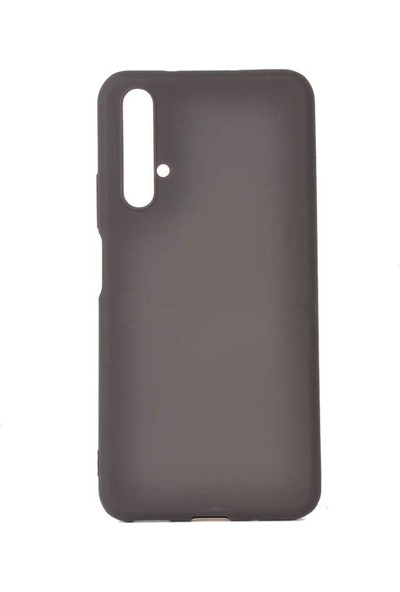 Tbkcase Huawei Nova 5T Mat Silikon Kılıf Siyah