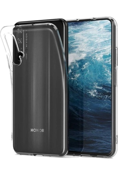 Tbkcase Huawei Nova 5T Tpu Silikon Kılıf Şeffaf + Nano Ekran Koruyucu