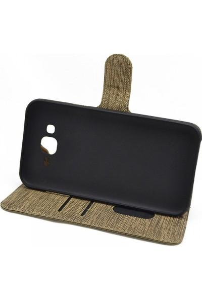 Teleplus Samsung Galaxy A50 Kumaş Spor Standlı Cüzdanlı Kılıf Siyah