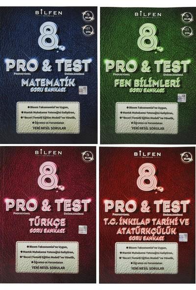 Bilfen Yayınları 8. Sınıf Pro & Test Soru Bankası Seti 4 Kitap