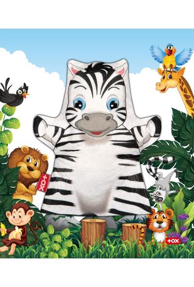 Tox Zebra Vahşi Hayvanlar Keçe El Kukla