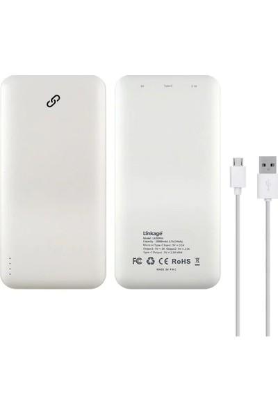 Linkage LKP-09 5000 Mah Hızlı Şarj Powerbank Beyaz