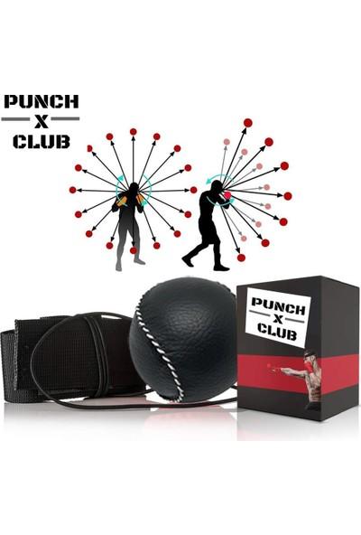 Punch Club Kick Box Boks Kafa Refleks Hız Topu Deri Kaplama