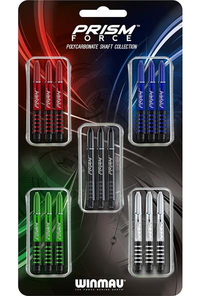 Winmau 8118 Prism Force Şaft Kolleksiyonu 5 Set 15 Adet