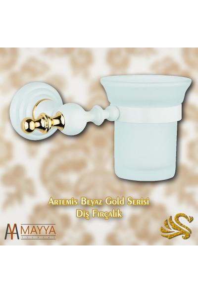 Saray Banyo Artemis Beyaz Gold Fırçalık