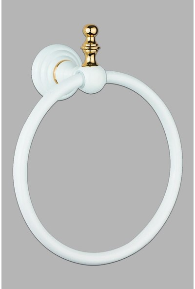 Saray Banyo Artemis Beyaz Gold Daire Havluluk
