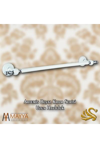 Saray Banyo Artemis Beyaz Krom Uzun Havluluk