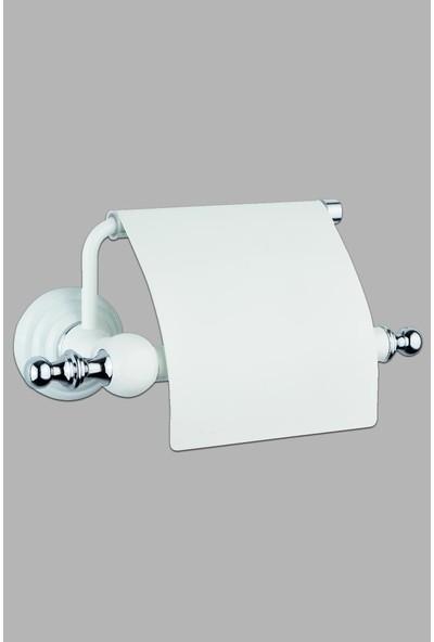 Saray Banyo Artemis Beyaz Krom Kapaklı Kağıtlık