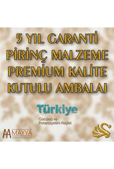 Saray Banyo Artemis Siyah Gold Daire Havluluk