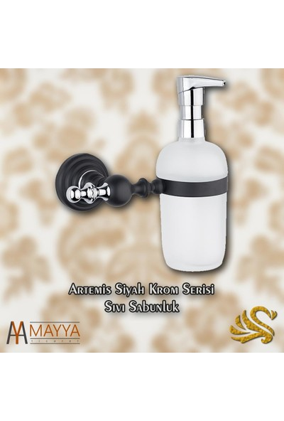Saray Banyo Artemis Siyah Krom Sıvı Sabunluk