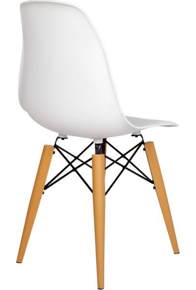 Seduna Beyaz Eames Sandalye Mutfak Sandalyesi