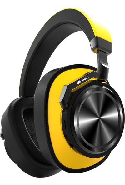 Bluedio T6 Bluetooth 5.0 Kulaklık Sarı