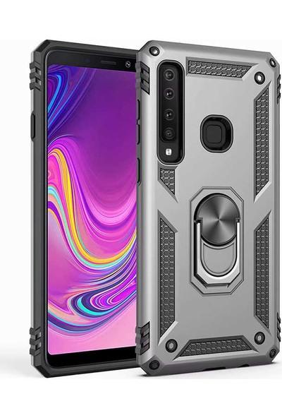 Zore Samsung Galaxy A9 2018 Kılıf Vega Silikon - Gri